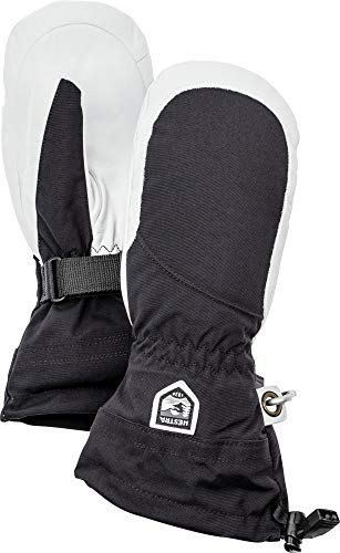 Hestra Henrik Ski-Handschuh Leder Pro Model kurz, Damen, 30611, Black/Off White, 8