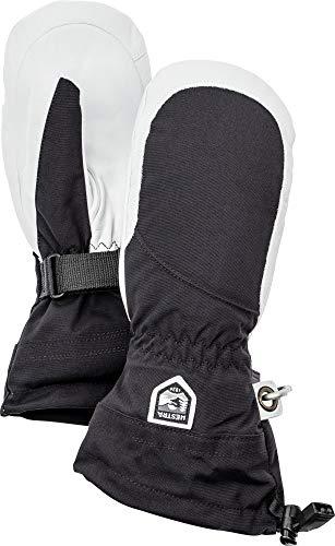 Hestra Henrik Ski-Handschuh Leder Pro Model kurz, Damen, 30611, Black/Off White, 7