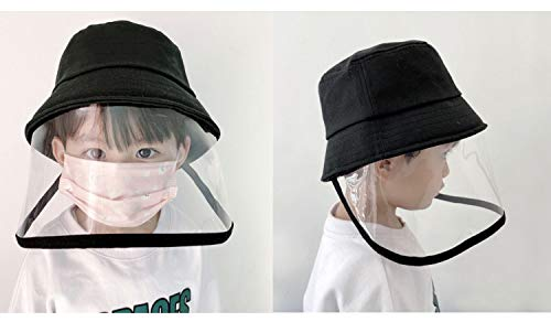 Anti Fog Waterproof Detachable Reusable Visor Face Shield Hat QXQTER Kids Face Shield Hat Anti Spitting Anti-UV Protective Fisherman Hat with Full Face Protection Shield