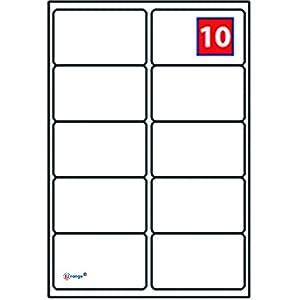 EJRange 10 etiquetas por hoja A4, 100 hojas - 1000 etiquetas en total, etiquetas autoadhesivas de dirección compatibles con impresoras de inyección de tinta y láser - Etiquetas adhesivas imprimibles