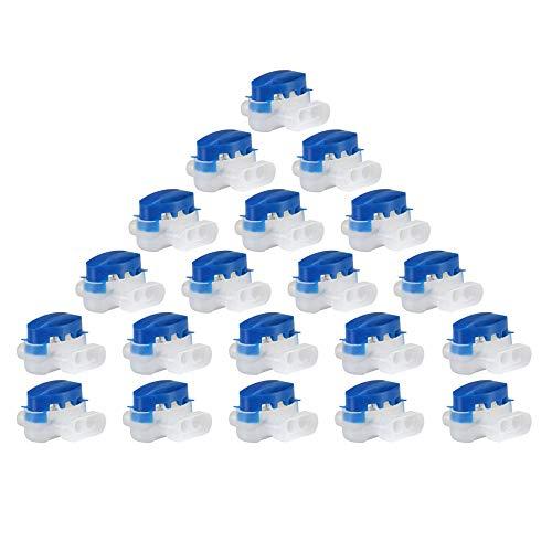 iPobie 20 pezzi Cavo Connettore con Gel,Morsetti per Cavi/Connettori per Robot Tosaerba,Blu