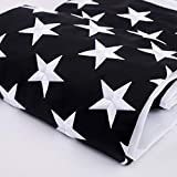 Freefy Thin Blue Line American Flag 2x3 ft- Embroidered Stars,Long Lasting Durable Nylon,Sewn Stripes,Brass Grommets,Black White Blue US USA Police Flag-Honoring Law Enforcement Officers