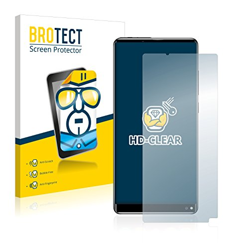 BROTECT Schutzfolie kompatibel mit Oukitel Mix 2 (2 Stück) klare Bildschirmschutz-Folie