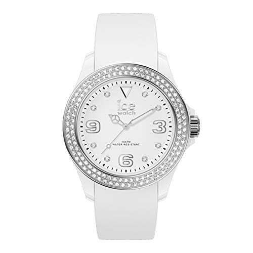 Ice-Watch - ICE Star White Silver - Witte dameshorloge met siliconen armband - 017230 (Small)