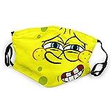 Bob Esponja Spongebob Mundschutz Anti-Staub Waschbar Wiederverwendbarer Mundschutz Modedesign für Kinder Jungen Mädchen Teenager