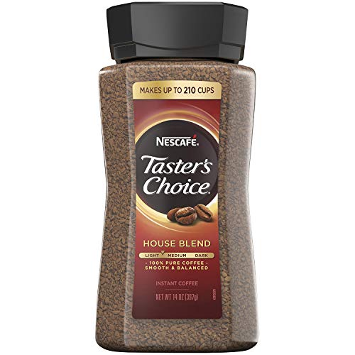 Nescafe Taster#039s Choice Signature House Blend Instant Coffee Classic Taste | 14 Ounce Value Size | Premium Freshness In Your Morning Cup