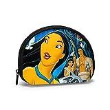 Pocahontas - Monedero para mujer o niña, con cremallera, pequeña concha, bolso de mano, bolsos de maquillaje, bolsa de joyas multifuncionales