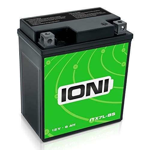 Batteria per motocicletta 12V 7AH AGM Ioni di Litio (tipo–Simile a YTX7L-BS) (sigillato/esente da manutenzione)