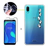 LJSM Case for Wiko Y80 + Tempered Film Glass Screen