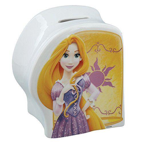 Enchanting Disney The Lost Princess-Rapunzel Money Bank, Ceramic, Multicolour, 11 x 7 x 13 cm