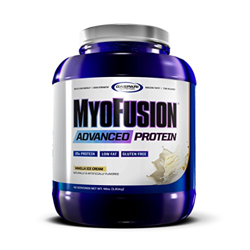 Gaspari Nutrition Myofusion Advanced Protein| Vanilla Ice Cream | 4 lbs
