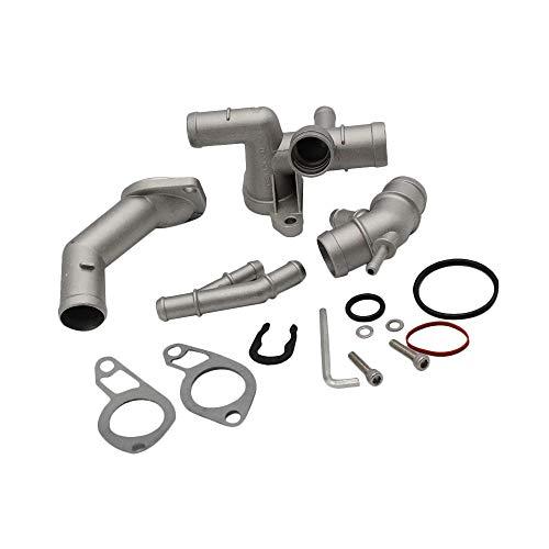 KKmoon Cast Aluminum Coolant Flange Upgrade Kits for VW MK4 Golf Jetta GLI GTI TT 337 1.8T