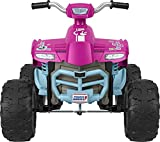 Power Wheels Barbie Pink Racing ATV, 12-V Battery Powered Ride-on Vehicle for Preschool Kids Ages 3-7 Years [Amazon Exclusive]