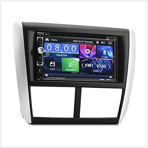 TUNEZ® Autoradio double DIN lecteur DVD CD USB stéréo radio compatible avec Subaru Impreza GE GH GR GV G3 années 2007 2008 2009 2010 2011 2012