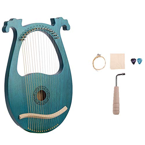 Fransande Lyre Harp, 16 Saiten Mahagoni Body String Instrument Body Instrument mit Stimm SchlüSsel und Ersatz Saiten