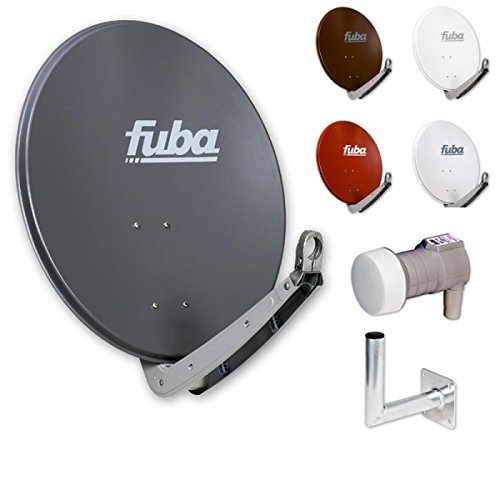 Fuba Digital Sat-Anlage 1 Teilnehmer   Fuba DAA 650 Kompakt Sat-Antenne in Wunschfarbe + DEK 106 LNB + Winkelwandhalter