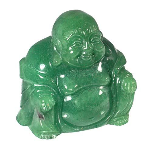 Vert Aventurine Statue de Bouddha assis