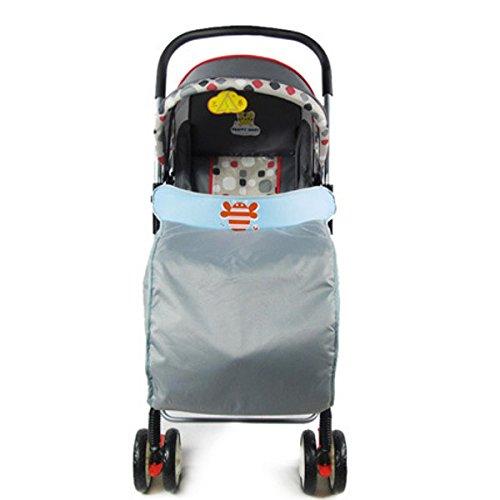 Bluelover 60 X 40Cm Automne-Hiver Bébé Enfants Chaud Coton Poussettes Landaus Pied Couverture Coupe-Vent Wrap - Bleu