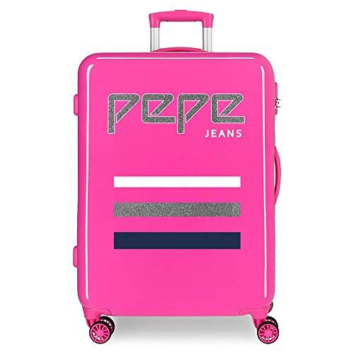 Pepe Jeans World Maleta mediana Rosa 48x68x26 cms Rígida ABS Cierre combinación...