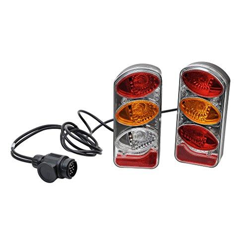 Peruzzo achterlichtset met kabel 13-pins stekker, fietsendrager