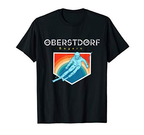 Oberstdorf Bayern - Deutschland Retro 80s Skiferien Geschenk T-Shirt