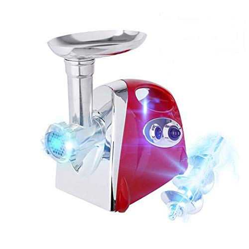 Electric Meat Grinder With 4 Knifes for KitchenAid 800w Stainless Steel Meat Mincer Enema Machine & Sausage Stuffer Meat Machine Sausage Maker Metal Food Grinder Meshes Red