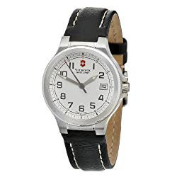 Victorinox Swiss Army Women's 241272.CB Peak II Small White Dial Black Leather Strap