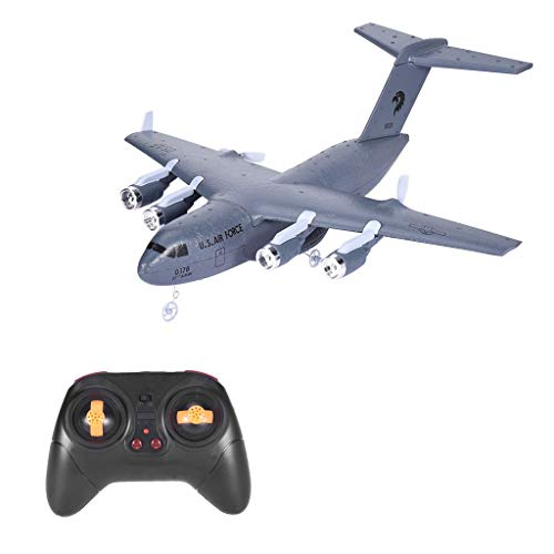Remote Control Plane | Rc Aircraft for Adults and Kids Ready to Fly Airplane | C-17 2.4GHz 2CH 3-Axis Electric 2 Channel RTF Controlled Planes (Navy【New Upgrade】)