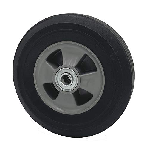 """Rocky Mountain Goods Solid Rubber Hand Truck Wheel 8' X 2.25' - 5/8"""" axle Size - Flat Free Solid Rubber Replacement tire for Hand Truck, cart, Power Washer, Dolly, Compressor - 550 lbs. (8')"""