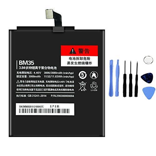 Ellenne Batería compatible con Xiaomi Mi 4C MI4C BM35 de alta capacidad 3000 mAh con kit de desmontaje incluido