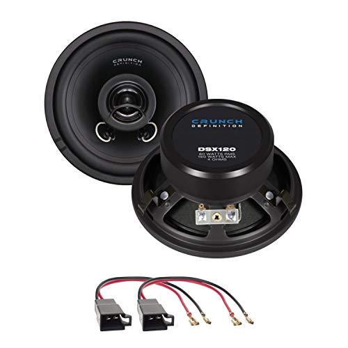 Lautsprecher Einbauset kompatibel mit VW T4 Crunch DSX120 12 cm 2 Wege Koaxial für die Seitenteile hinten