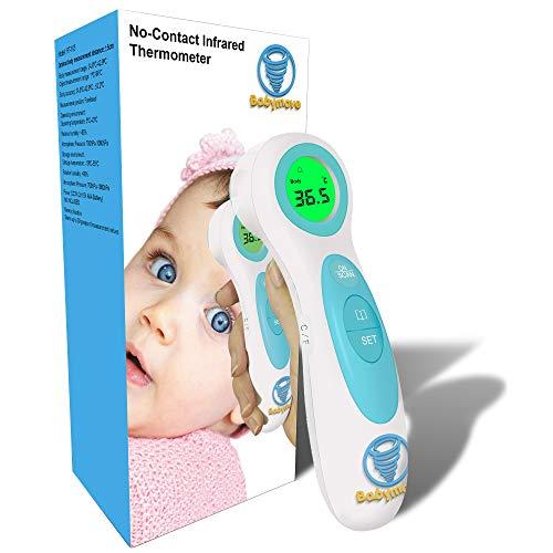 Babymove Termometro Digital frente - Termometro bebe y adultos - Control de la fiebre corporal y capta la temperatura de líquidos y objetos - Termometro digital bebe