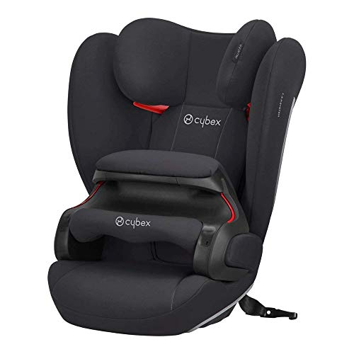 Cybex Silver Kinder-Autositz Pallas B-Fix, Für Autos mit und ohne ISOFIX, Gruppe 1/2/3 (9-36 kg), Ab ca. 9 Monate bis 12 Jahre, Volcano Black