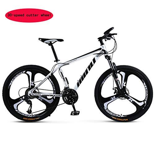 Tochange Mountainbike, 26 Zoll, 3 Spoke 24 x mit Gestell aus Stahl mit hohem Kohlenstoffgehalt, Doppel-Scheibenbremsen und Federung vorne Gabel für Erwachsene Fahrrad, F