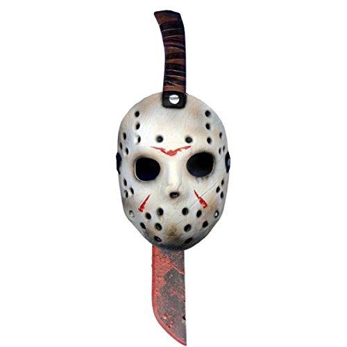 Máscara y machete de Jason Viernes 13