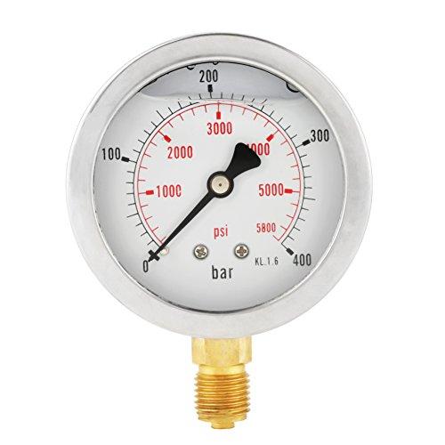 """63mm Manometer Analog Gasdruckanzeige 0-250Bar 0~3750PSI für Wasser Luft Öl Dial Instrument Basis Eintrag G 1/4\"""""""