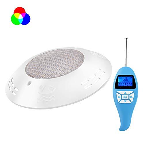 LyLmLe Lámpara Piscina 20W Foco LED Plano RGB con Control Remoto para Superficie Sumergible Iluminación Impermeable IP68,12V AC