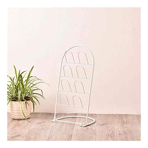 Kiki Zapatero europeo pequeño zapatero creativo de hierro forjado para baño, escurridor de baño, estante de almacenamiento para sala de estar, interior de zapatos (color: blanco)