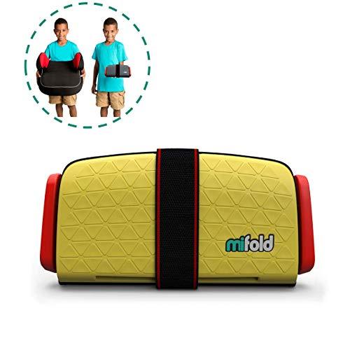 mifold Auto-Kindersitz Grab-and-Go-Booster, portabel, faltbare mobile und kleine Sitzerhöhung, Gruppe 2/3, gelb