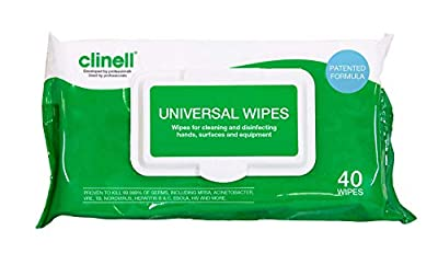 Clinell Universal Sanitising Wipes 40 from Gama Healthcare