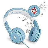 Tonie-Lauscher hellblau: Kinder Kopfhörer passend zur Toniebox - Lautstärke reguliert, Abnehmbares Kabel, Größenverstellbar, Bewegliche Ohrmuscheln