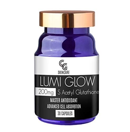 High Dose 200mg S Acetyl Glutathione Lumi Glow Capsules | Advanced Absorption | Skin Brightening | Master Antioxidant | Immune Supplement