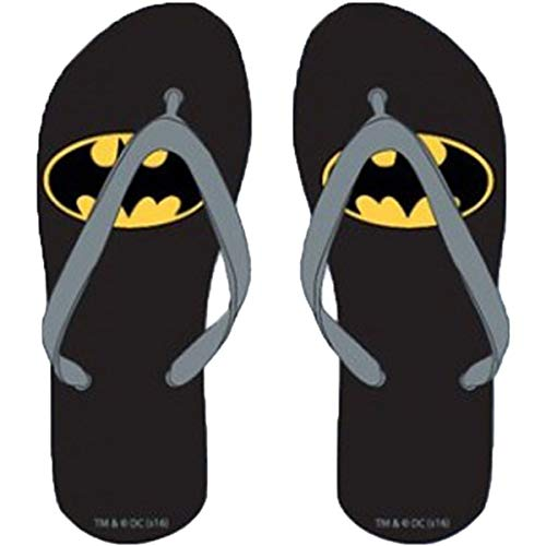 Flip-Flops für Kinder, Batman Sommer, Größen 23/25-26/28-30/32, Schwarz - Schwarz - Größe: 28 EU