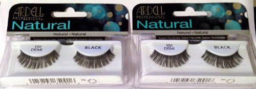 Ardell Natural Lashes #101 Demi Black (2 Pack) by Ardell