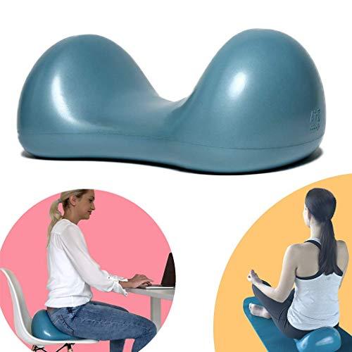 Air8 Gesundheitskissen für gerade Haltung, Yoga und Fitness/Aufblasbares Stuhl Kissen fürs Zuhause, Fitnessstudio und Büro verbessert Rücken Gesundheit, Kernmuskulatur und Körpersymmetrie