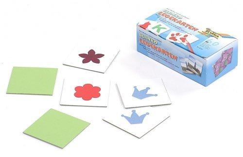 Knorr prandell 218260877 blanco legkaarten (6 x 6 cm voor het vormgeven van een individuele memory, inhoud 60 kaarten)