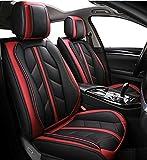 Flexzon - Fundas para asientos delanteros de coche, color rojo