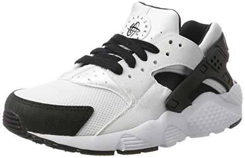 Nike Jungen Huarache Run (GS) Laufschuhe, Weiß/Schwarz/Weiß (Weiß/Schwarz-Weiß), 36 EU
