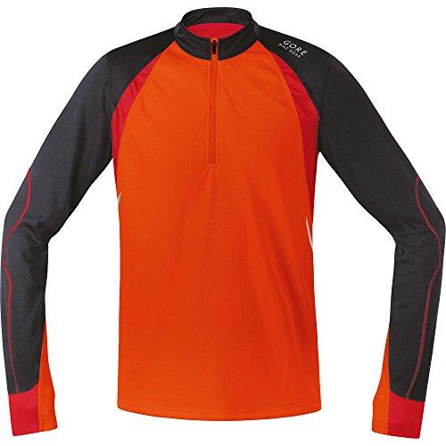 Gore Bike Wear Fusion Langarm Radtrikot, Orange/Braun XL Naranja/marrón (Blaze orange/Raven Brown)