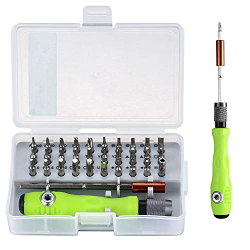 32 in 1 Precision Screwdriver Tool Set, Repair Tool Kit, Screwdriver Accessory with Non-Slip Handle, Adjustable Pole, Magnetic Work Repair Tools for Electronics, Laptop, PC, Mobile Phone